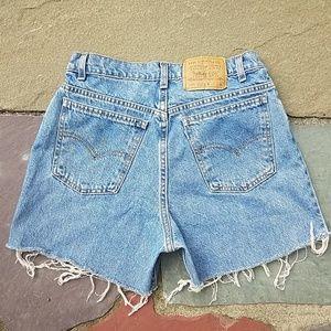 Levi's 951 high rise vintage cut off jean shorts